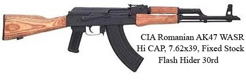 CIA-Romanian-AK47-WASR-Hi-CAP-7-62-39-Fixed-Stock-Flash-Hider-30rd=
