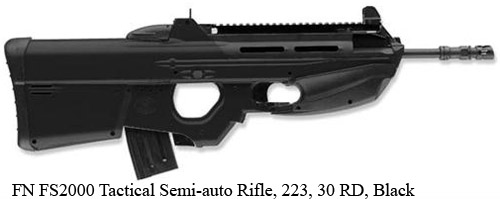FN FS2000 Tactical Semi-auto Rifle, 223, 30 RD, Black=