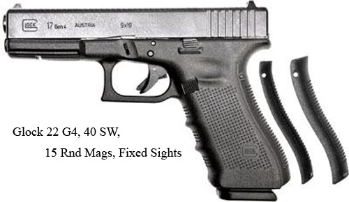 Glock-22-G4-40-SW-15-Rnd-Mags-Fixed Sights=