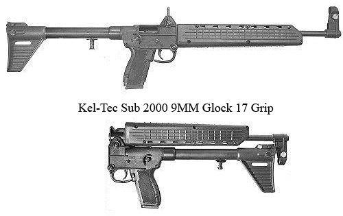 "Kel-Tec-Sub-2000-9MM-Glock-17-Grip=""160"