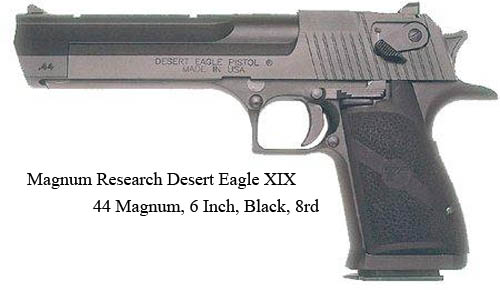 Magnum Research Desert Eagle XIX 44 Mag, 6 Inch, Black, 8rd=