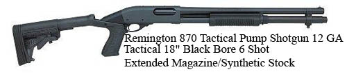 Remington-870-Tactical-Pump-Shotgun-12-GA-Tactical-18-Black-Bore-6-Shot-Extended-Magazine-Synthetic-Stock=