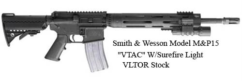 Smith-Wesson-Model-MP15-VTAC-W-Surefire-Light-VLTOR-Stock=